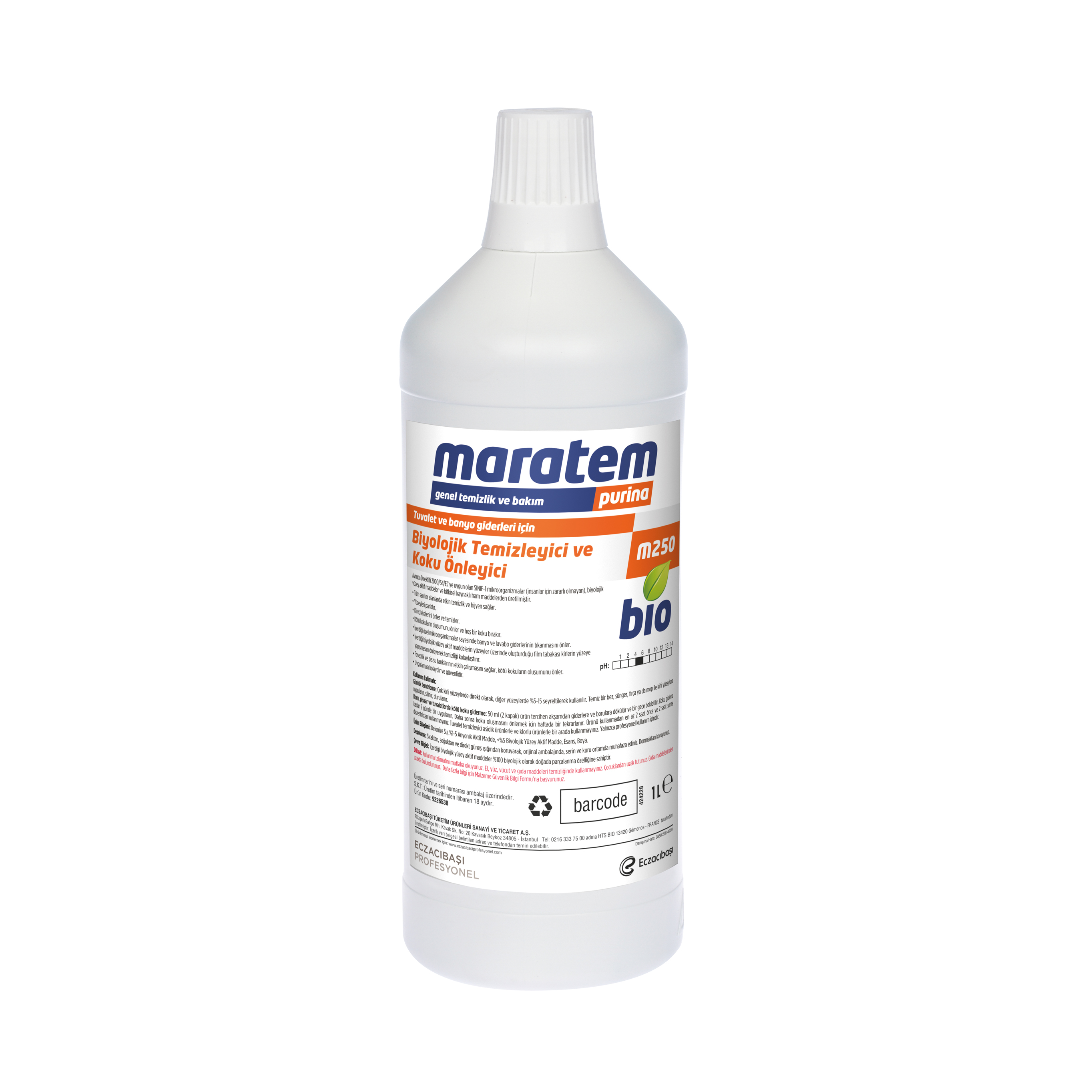 M250 Biological Cleaner and Odor Killer for Toilet and Bathroom Drains