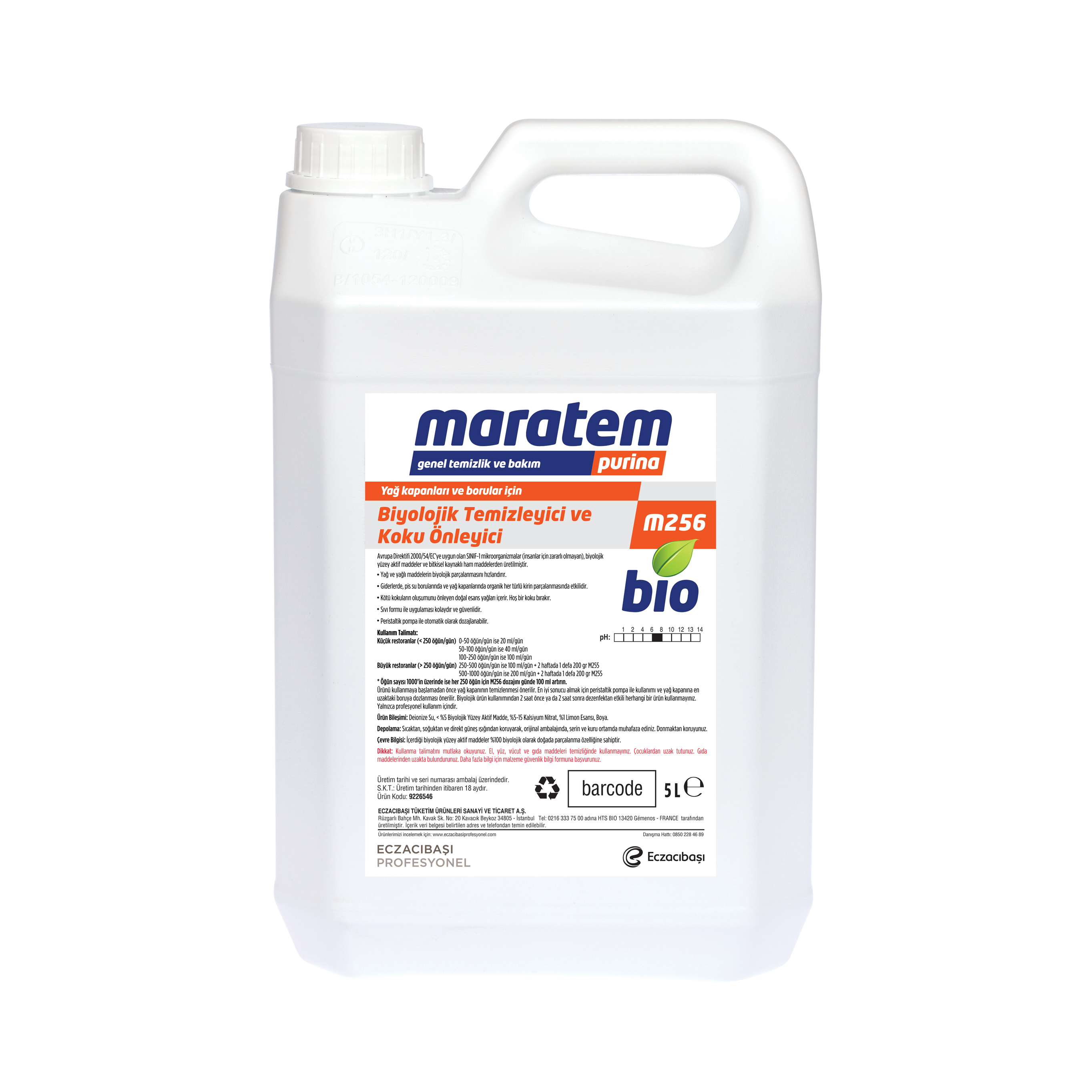 M256 Biological Treatment Product for Grease Traps and Pipes