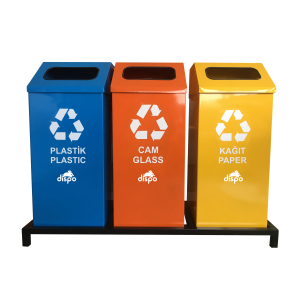 Recycle Garbage Can Rectangle