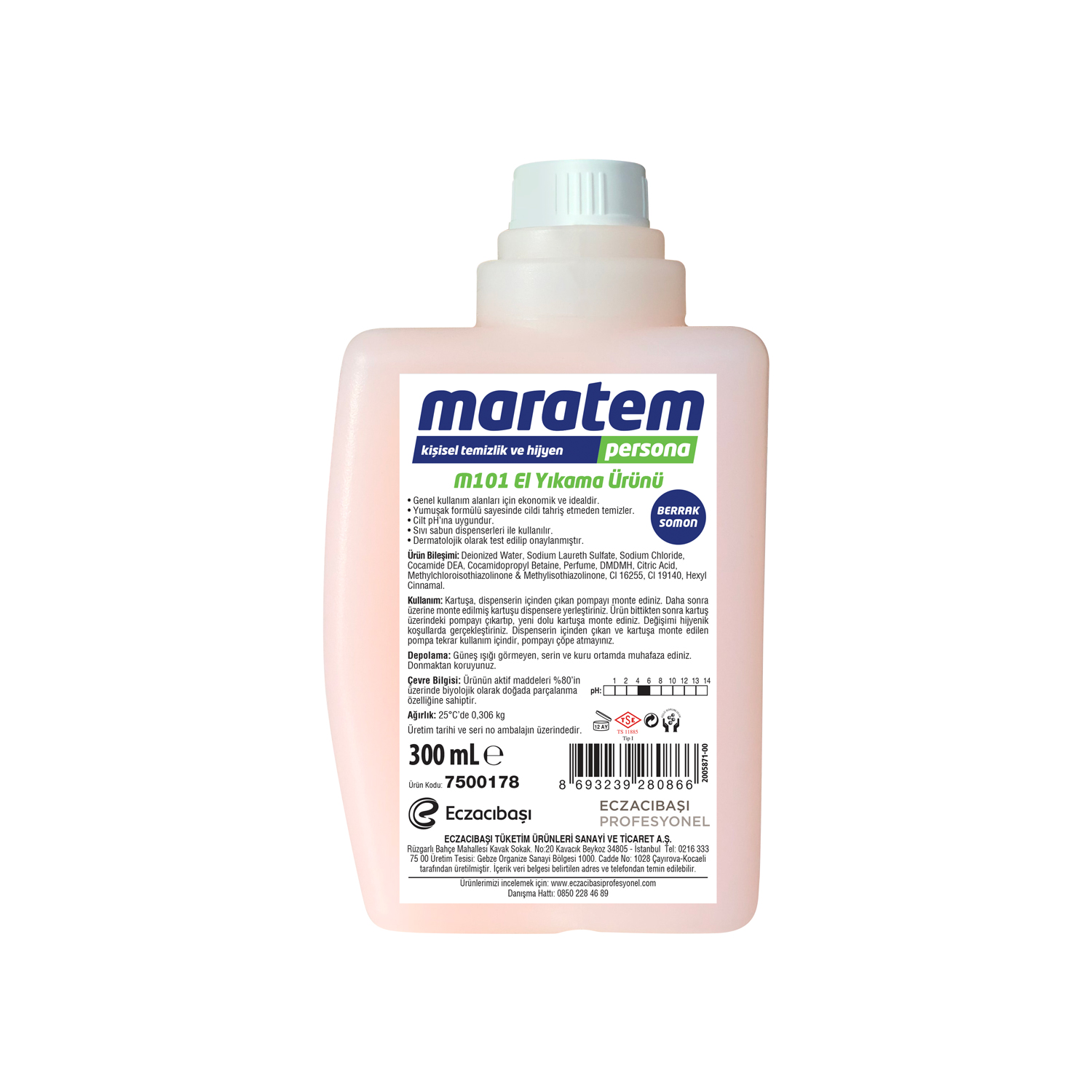 M101 Liquid Hand Wash - Clear Salmon